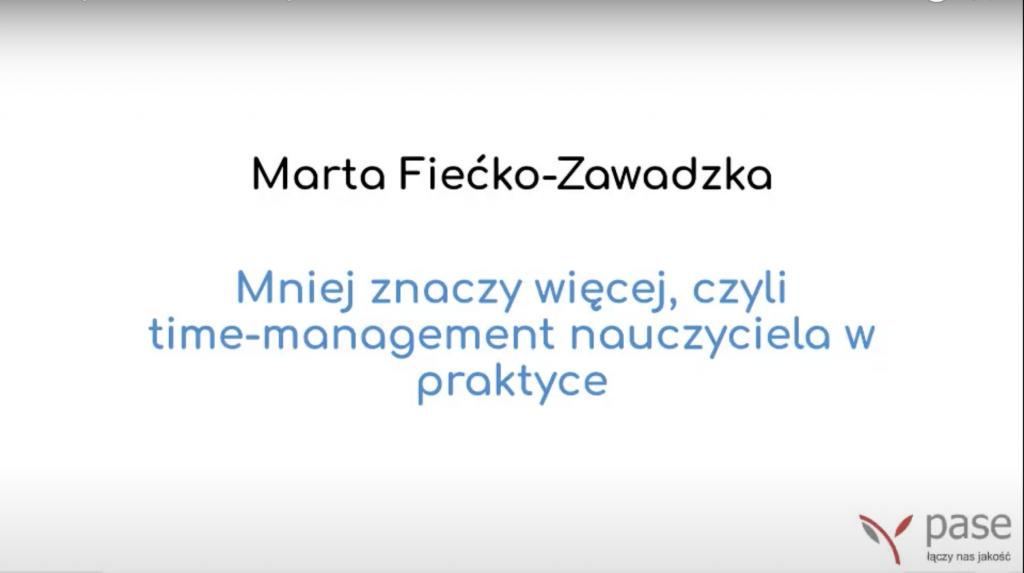 Bezpłatne webinarium PASE z Martą Fiećko-Zawadzką